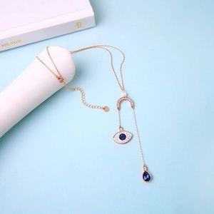 Jewelry - 🆕️ Double Drop Evil Eye & Blue Teardrop Necklace